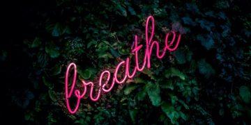 neon breathe sign