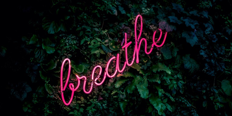 neon breathe sign